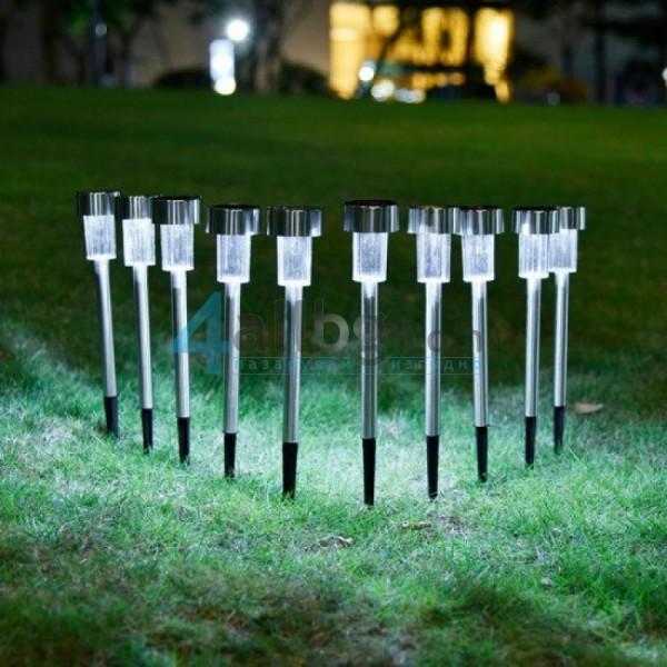 Метални соларни лампи за градина 2бр. Home Ideas